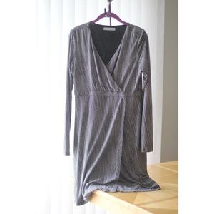 Athleta Faux Wrap Print Knit Dress : Medium M
